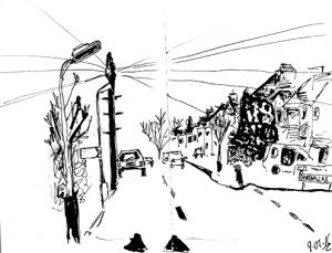Sketch in Car